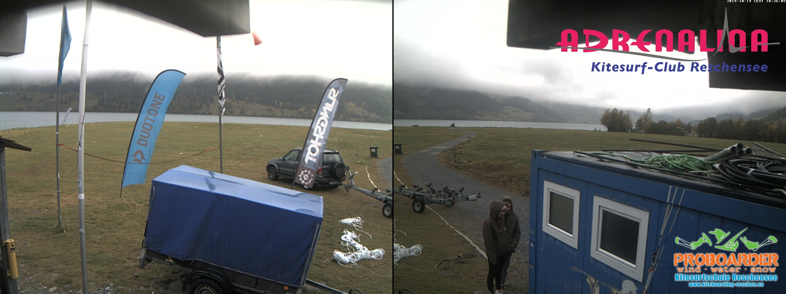 Webcam vom Reschensee am Adrenalina Kitesurf Club